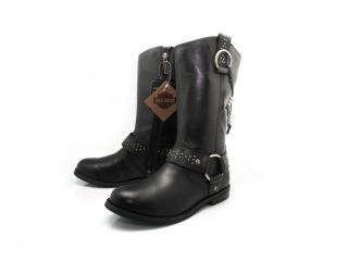 Harley Davidson Mackenna Womens Black Riding Motorcycle Boots Size 5