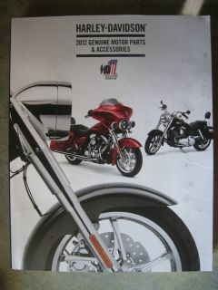 2012 Harley Davidson Genuine Motor Parts Accessories Catalog LQQK No