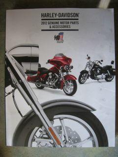 2012 Harley Davidson Genuine Motor Parts Accessories Catalog LQQK No