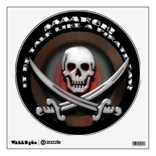 Pirate Skull & Sword Crossbones   TLAPD Room Sticker