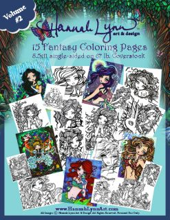 Coloring Book Pages Fairies Mermaids Vampires Hannah Lynn Art Vol 2