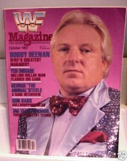 1987 WWF Wrestling Magazine Bobby Heenan Animal Steele