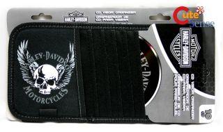 Harley Davidson Skull Wing 10 CD Visor Organizer Case