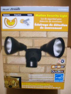 New Heath Zenith 270 Degrees Motion Security Light w Alert Flash