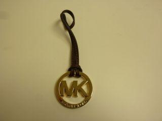 Michael Kors Signature MK Logo HandBag Accessories Key Fob Chocolate