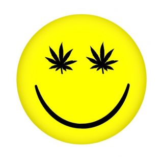 Stoned Happy Face 2 25 Fridge Magnet Weed 420 Pot