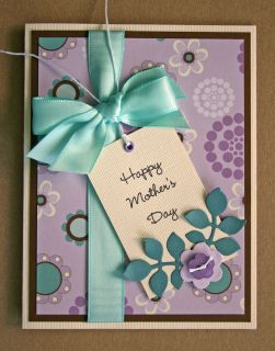 Handmade Card Happy Mothers Day Mom Love Friend Family
