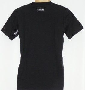 Volcom Stone Deadlock Stripe Premium Tee Mens Gray Black Blue T Shirt