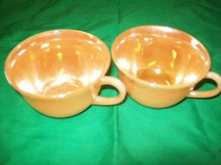 Vintage Two Luster Ware Fire King Oven Ware Made in USA Coffee Mug Cup