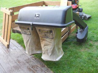 John Deere Soft Dual Grass Bagger with Power Flow