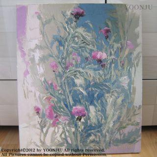 Korean Artist Noh Hee Sook 2006 Innocence Iris Light purple color pure