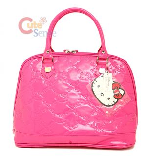 Sanrio Hello Kitty Pink Embossed Hand Bag Hot Pink Loungefly Hand Bag