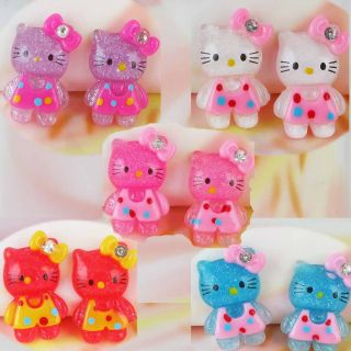 50pcs Hello Kitty Cats Resin Flat Back Rhinestone Cabochons Scrapbook