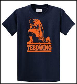 Tebowing Denver Football Tim Tebow Broncos Fan Jesus Like Navy T Shirt