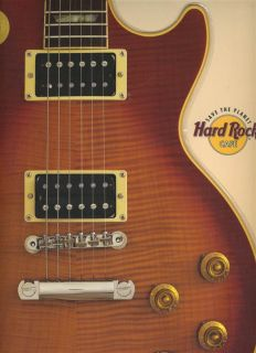 Hard Rock Cafe Guitar Shaped Menu Baltimore Maryland 1998