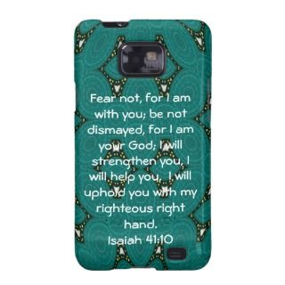 Inspirational Quote Isaiah 41:10 Galaxy S2 Cover