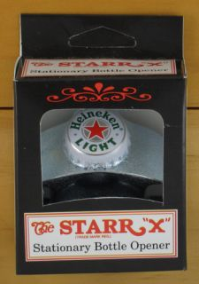 Heineken Light Beer Bottle Cap Starr x Wall Mount Bottle Opener New