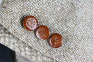 Vintage Hardy Amies Brown Fleck TWEED Hunting Blazer/Jacket 40 R