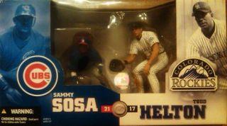 McFarlane MLB 2 Pack Todd Helton vs Sammy Sosa