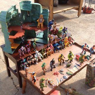 Vintage He man Action Figures castle