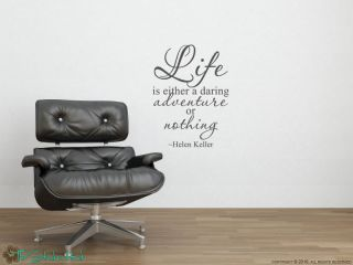 Life Is Helen Keller Quotes Vinyl Wall Art Sticker Decal 851