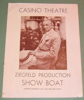 1932 NY CASINO THEATRE REVIVAL~RARE PROGRAM~HELEN MORGAN, PAUL ROBESON