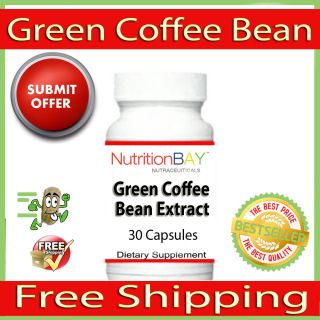 Green Coffee Bean Extract, 50% Chlorogenic Acid, Antioxidant, 200mg