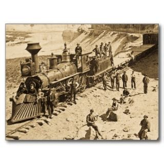 Scenes on the Union Pacific Railroad Sepia Post Cards