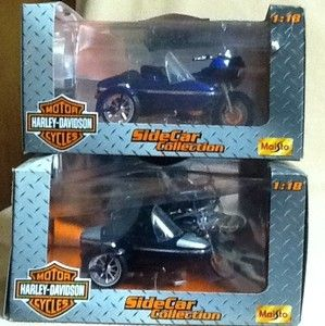 Maisto Harley Davidson Sidecar Lot 1 18 Scale