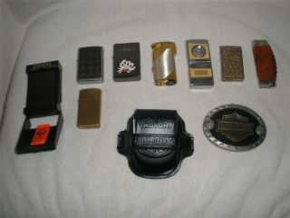 Vtg LIGHTER Lot COLIBRI ZAIMA ZIPPO SAILOR JERRY HARLEY DAVIDSON