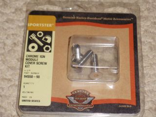 Harley Davidson Ignition Module Screw Kit Came Off 2000 883 Sportster