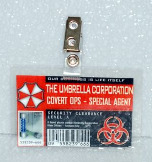 Resident Evil ID Badge Umbrella Corp Covert Ops   Special Ops