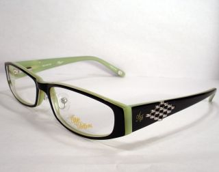 Apple Bottoms 707 Black Green Eyeglass Women Eyewear Frame