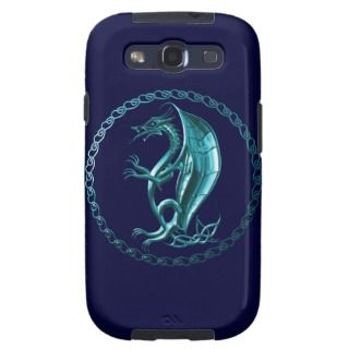 Blue Celtic Dragon Galaxy SIII Case