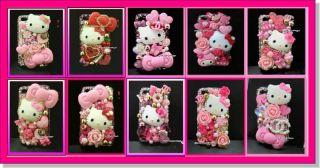Hello Kitty Pink Flower DIY Deco Barbie Cabochon M2