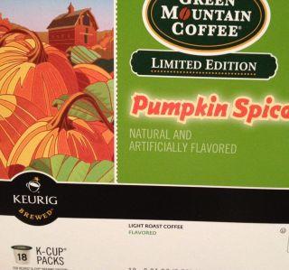 Green Mountain Coffee Pumpkin Spice K Cups Keurig