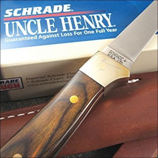 Schrade Uncle Henry Brown Pakkawood Handle Fillet knife USA MADE