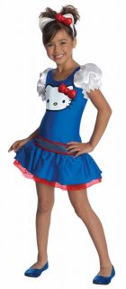Girls Hello Kitty Blue Dress Halloween Costume Child Size Medium 8 10