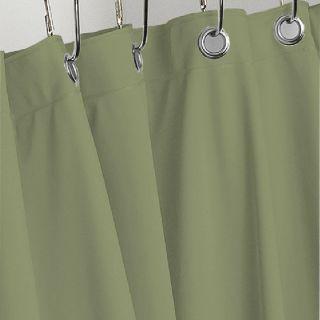 Sage Green Heavy Vinyl Shower Curtain 4 Gauge w Metal Grommets New