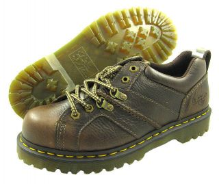 New Dr Martens Mens Finnegan Brown Harvest Shoes Boots US Sizes