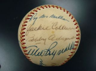 1970s Reds Old Timers Day Signed Baseball w Casey Stengel
