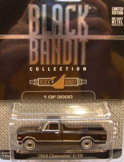 GREENLIGH COLLECIBLES 1 64 SCALE BLACK BANDI 1969 CHEVY C 10 PICK