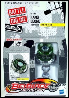 Hasbro Beyblade Metal Fury Fang Leone B147 130W2D Defense