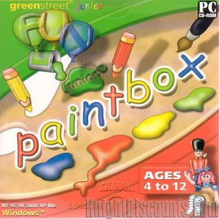 GREENSTREET Junior Coloring Book and Paintbox 2x CDs PC Games   Ages 4