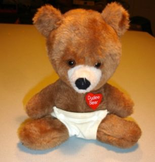 Vintage Dydee Bear Animal Fair Henrys Friend Stuffed Plush Toy Diaper