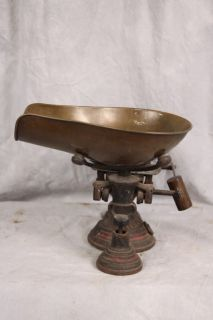L50 ANTIQUE HENRY TROEMNER MERCANTILE SCALE WITH BRASS SCOOP
