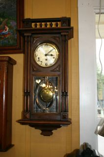 Elegant French Antique Wooden Wall Clock Henry II