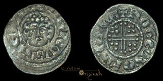 Henry III Canterbury Roger Silver Hammered Short Cross Penny Coin