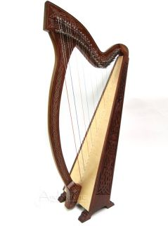 Levers Meghan Irish Celtic Floor Harp Knotwork Design Blemished