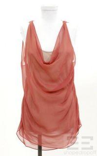 Haute Hippie Salmon Pink Jersey Silk Layered Sleeveless Top Size s New